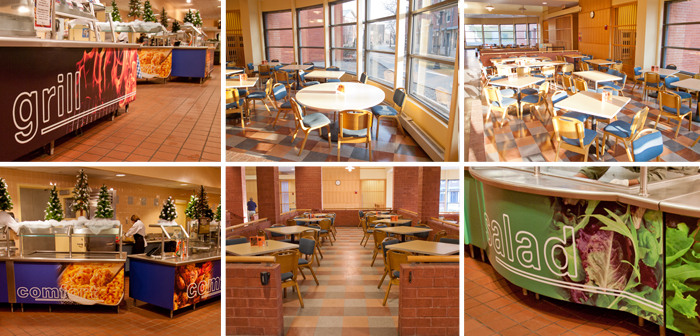 eating in operating room locations dining services