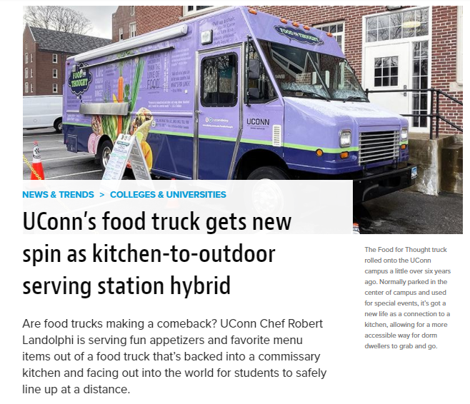 Screenshot of article from Food Management magazine