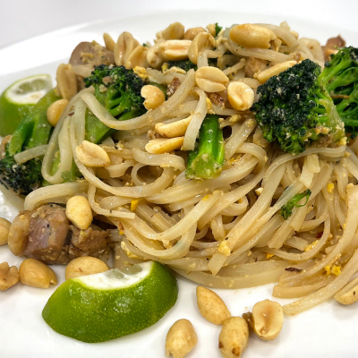 Chicken Stir Fry with Rice Noodles