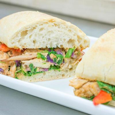 Pad Thai Chicken Ciabatta Sandwich