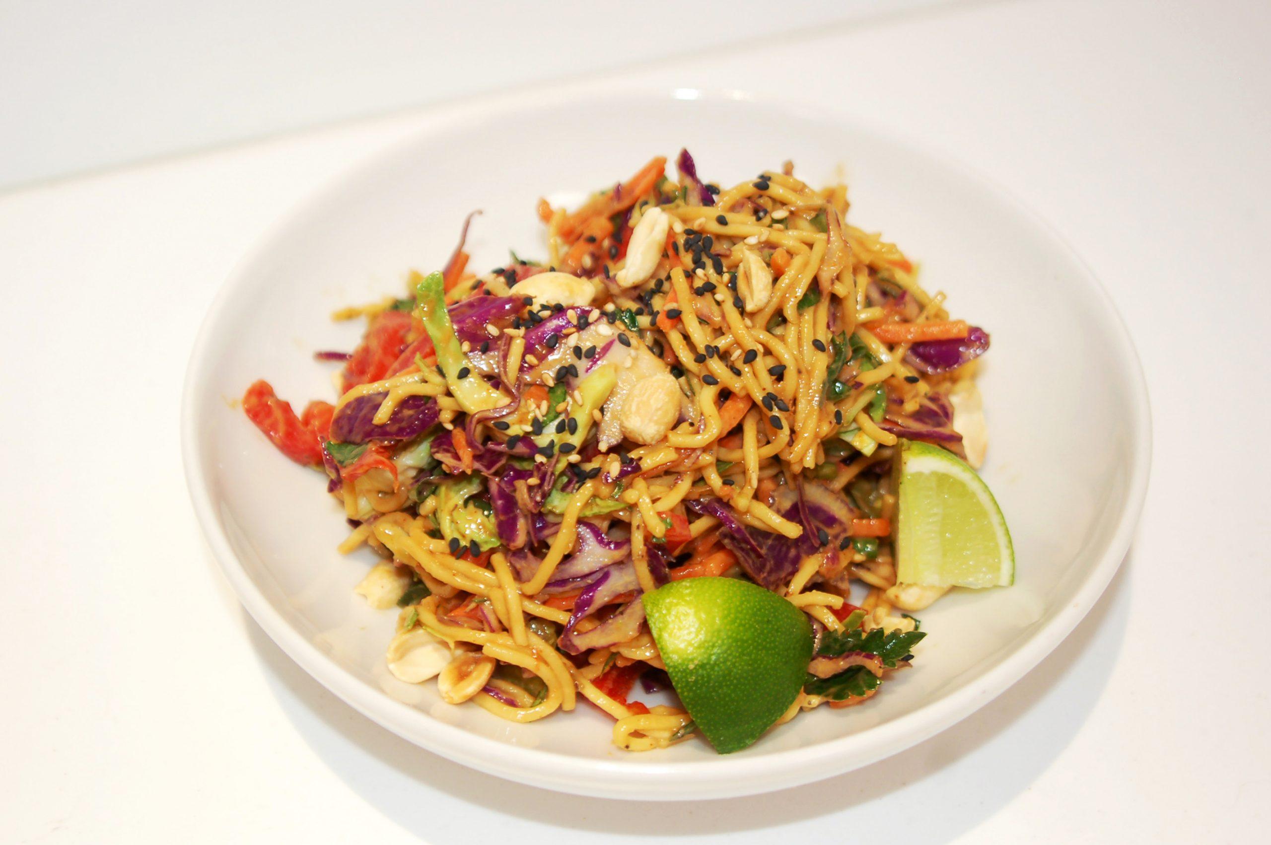 Spicy Sesame Peanut Noodle Salad