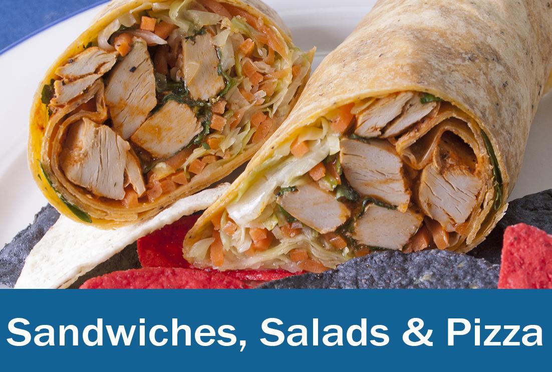 Sandwiches, Salads & Pizza menu