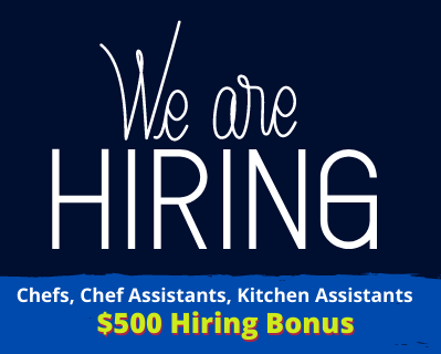 Full time positions for Chefs, Chef assistants and Kitchen assistants